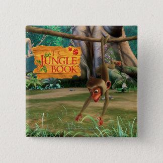 Baby Monkey 15 Cm Square Badge