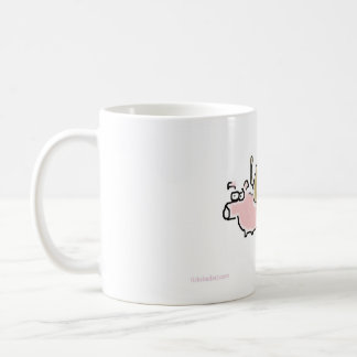 Baby Monkey riding backwards on a pig Coffee Mug