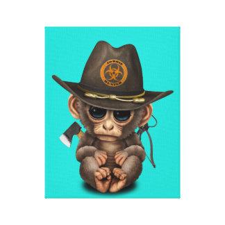 Baby Monkey Zombie Hunter Canvas Print