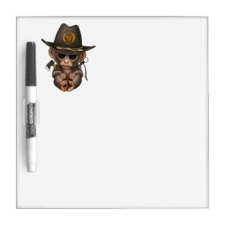Baby Monkey Zombie Hunter Dry Erase Whiteboards