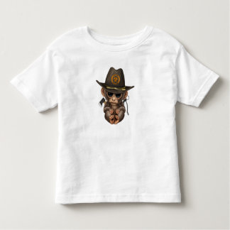 Baby Monkey Zombie Hunter Toddler T-Shirt