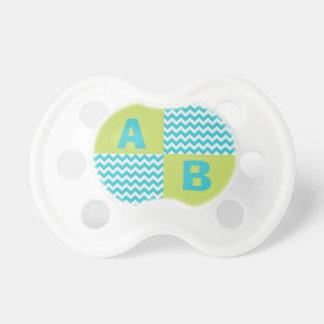Baby Monogram Initials Chevron Baby Pacifier