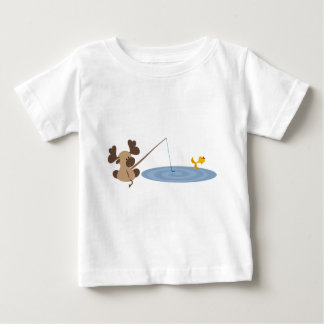 Baby Moose Fishing Baby T-Shirt