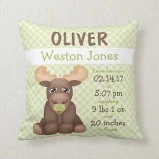 Baby Moose Nursery Keepsake Cushion