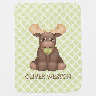 Baby Moose Personalized Blanket Pramblanket