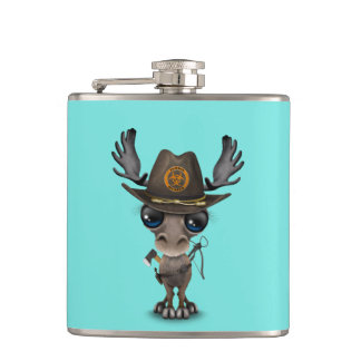Baby Moose Zombie Hunter Hip Flask