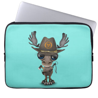 Baby Moose Zombie Hunter Laptop Sleeve
