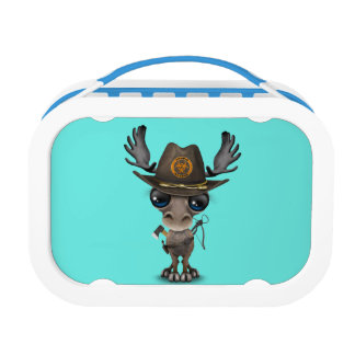Baby Moose Zombie Hunter Lunch Box