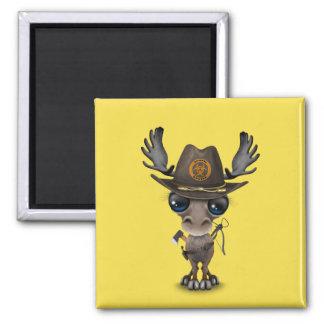 Baby Moose Zombie Hunter Magnet