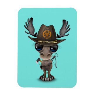 Baby Moose Zombie Hunter Magnet