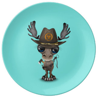 Baby Moose Zombie Hunter Plate