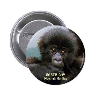 Baby Mountain Gorilla EARTH DAY Button