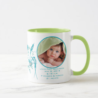 Baby Mug with Baby Photo Important Birth Stats