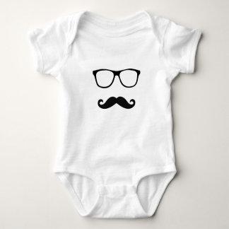 Baby mustache baby bodysuit