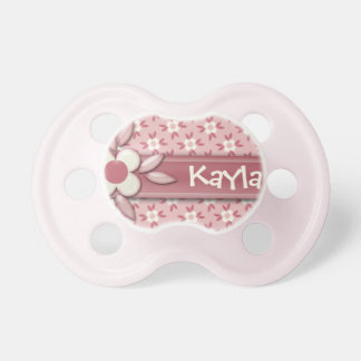 Baby Name DIY It's a Girl Cute Pink Daisy Flower Dummy