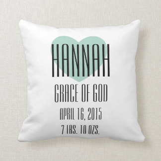 Baby Name Meaning Pillow - Hannah