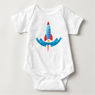 Baby Names Banner and Rocket Baby Bodysuit