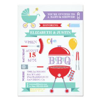 Baby Neutral - Modern BBQ Shower Invitation