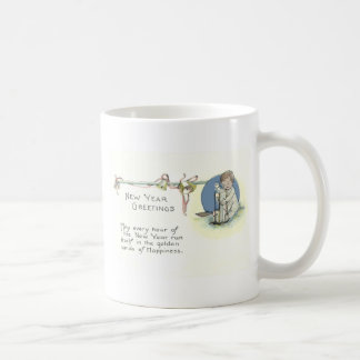 Baby New Year Hourglass Bell Coffee Mug