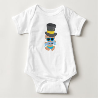 Baby New Year with Name Baby Bodysuit
