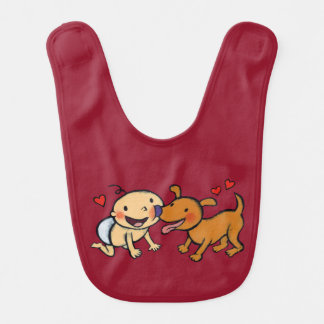 Baby Nose Kisses from the Dog Bibs