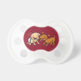 Baby Nose Kisses from the Dog Pacifiers