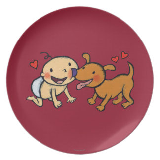 Baby Nose Kisses from the Dog Plate