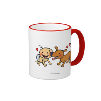 Baby Nose Kisses from the Dog Ringer Mug