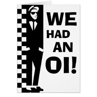 baby oi announcements (ska rude boy) greeting card