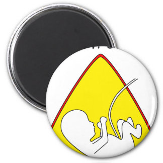 Baby on board 6 cm round magnet