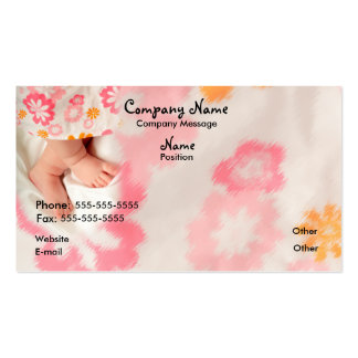 Baby on Pink Business Card Template