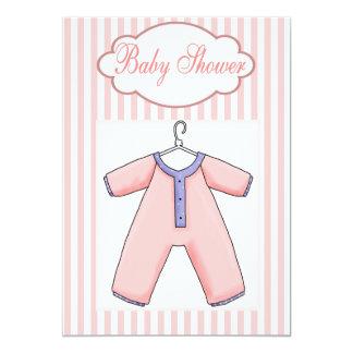 Baby Onsie  Girl Shower  Invitation