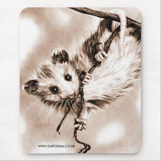 Baby Opossum Mousepad - Sepia