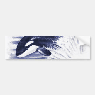 Baby Orca Jump Bumper Sticker