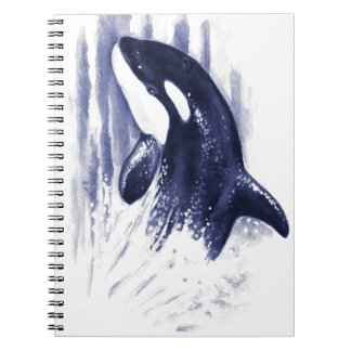 Baby Orca Jump Spiral Notebook