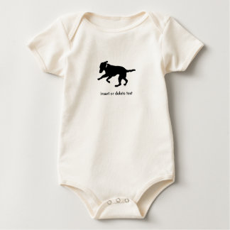 Baby organic bodysuit playful black lab