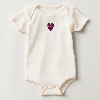 Baby Organic Tee - Raspberry HAMbyWG Heart