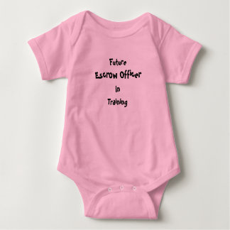 Baby Outfit - Future Escrow Officer In Training Baby Bodysuit