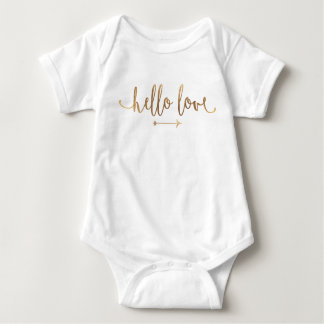 BABY OUTFIT ONSIE | Boho Gold Arrow Modern Chic Baby Bodysuit