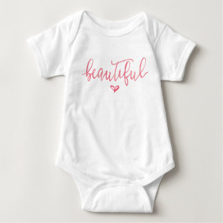 BABY OUTFIT ONSIE | Modern Pink Beautiful Script Baby Bodysuit