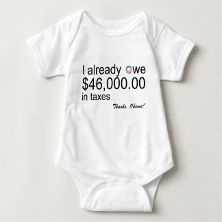 Baby owes $46k in Taxes Baby Bodysuit