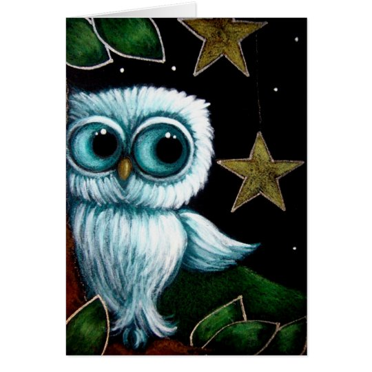 BABY OWL HANGING STARS CUSTOMIZE Card