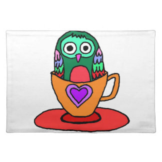 Baby Owl in a Teacup Placemat