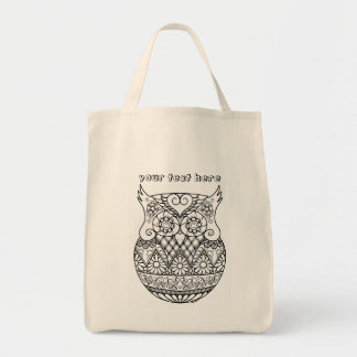 Baby Owl in the Egg ZenDoodle Art Personalizable
