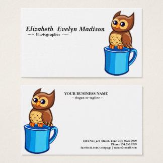 baby owl & mug 784 business card
