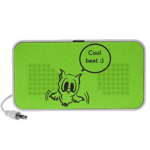Baby owl notebook speaker