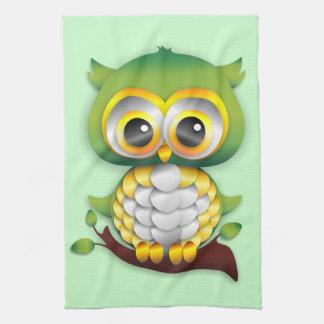Baby Owl Paper Craft Design Kitchen Towel