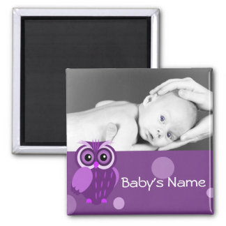 Baby Owl/ Photo Square Magnet