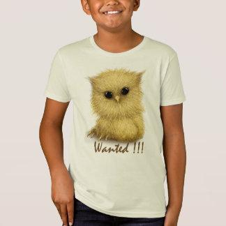 Baby Owl Wanted Organic Kids TShirt