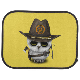 Baby Owl Zombie Hunter Car Mat